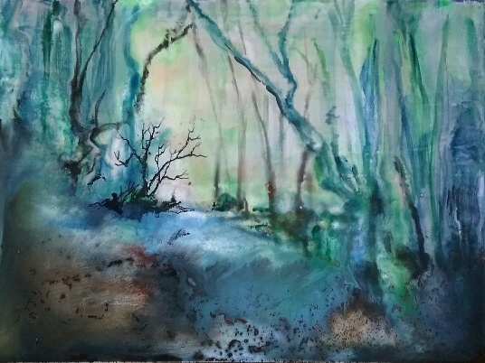 enchanted-forest-encaustic-46x36cm-2016-evelyn-antonysen