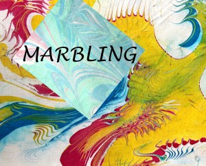 Marbling with text