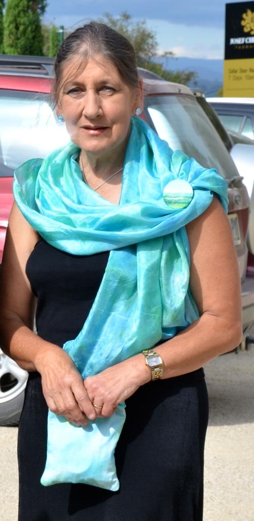 cyan shawl