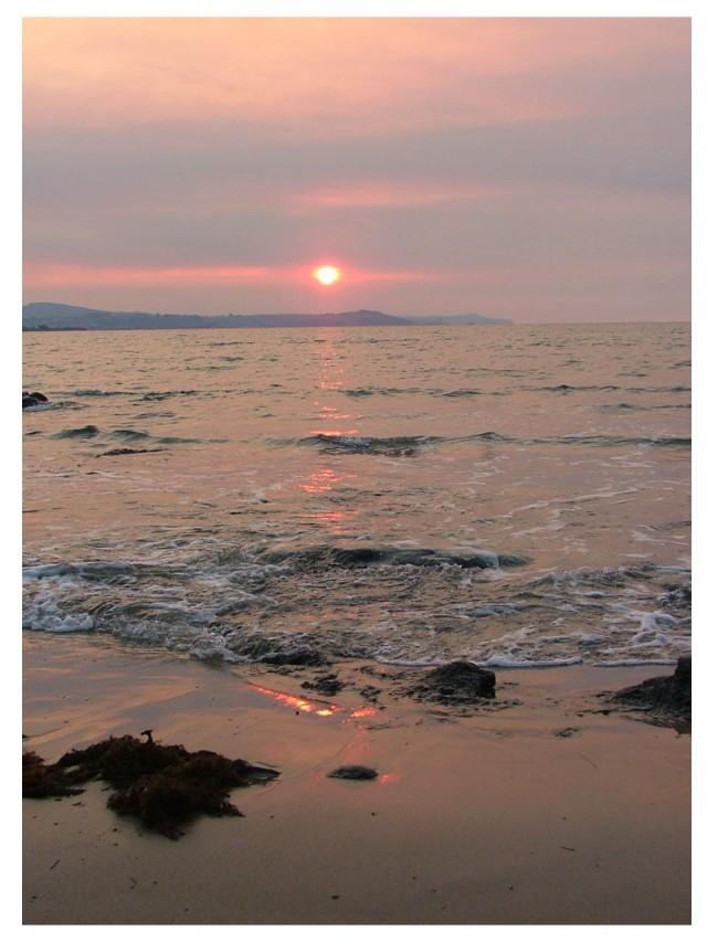 soft sunset at Leith, Tasmania