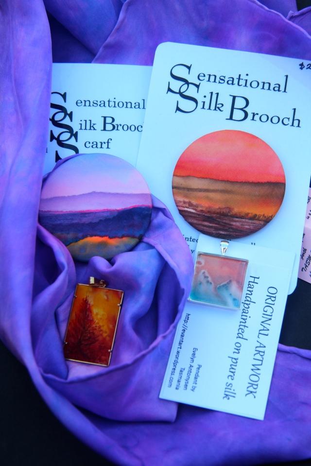 Silk painting, wearable art