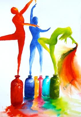 I am alive Watercolour SOLD