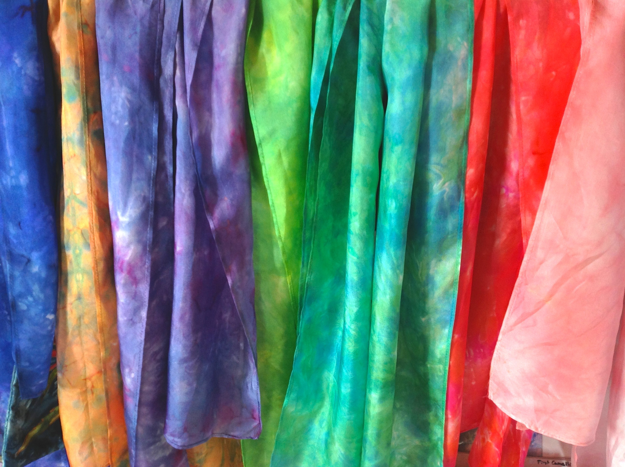 Wearable art… colourful handpainted silk scarves « EvAntArt