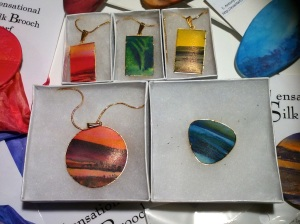 Handpainted silk jewellery
