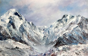 Everest base camp acrylic 2013