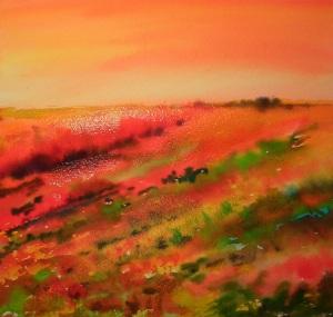 watercolour landscape abstraction