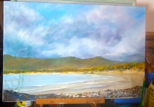 Bakers Beach Tasmania unfinished... acrylic on canvas