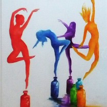 Colour my Life, watercolour, SOLD