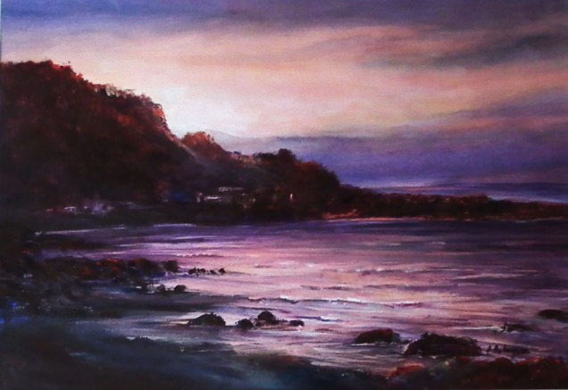 Evening Drive to Burnie, Acrylic, $360