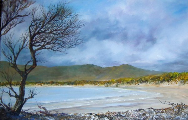 She Oak, Bakers Beach, Acrylic on canvas
