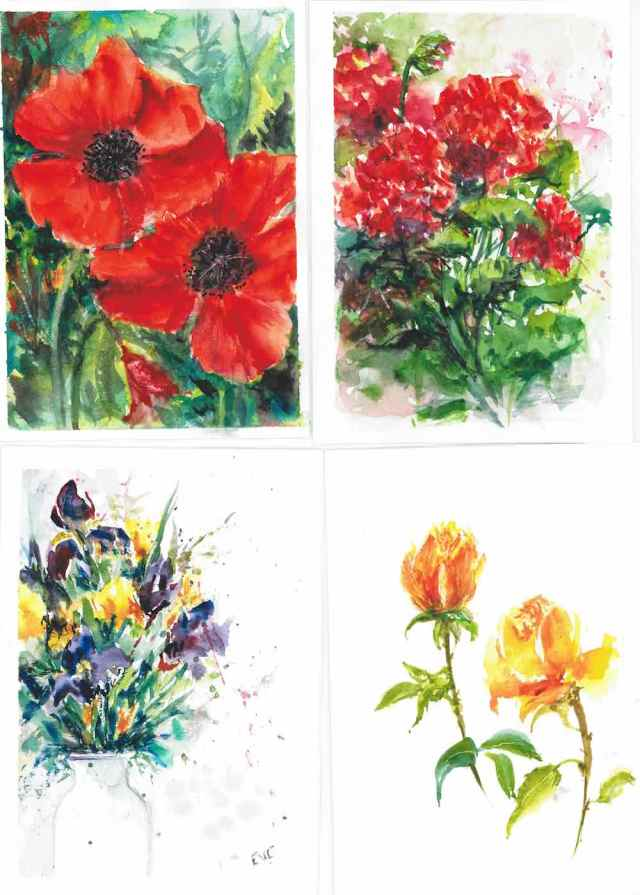 flowers wc cards