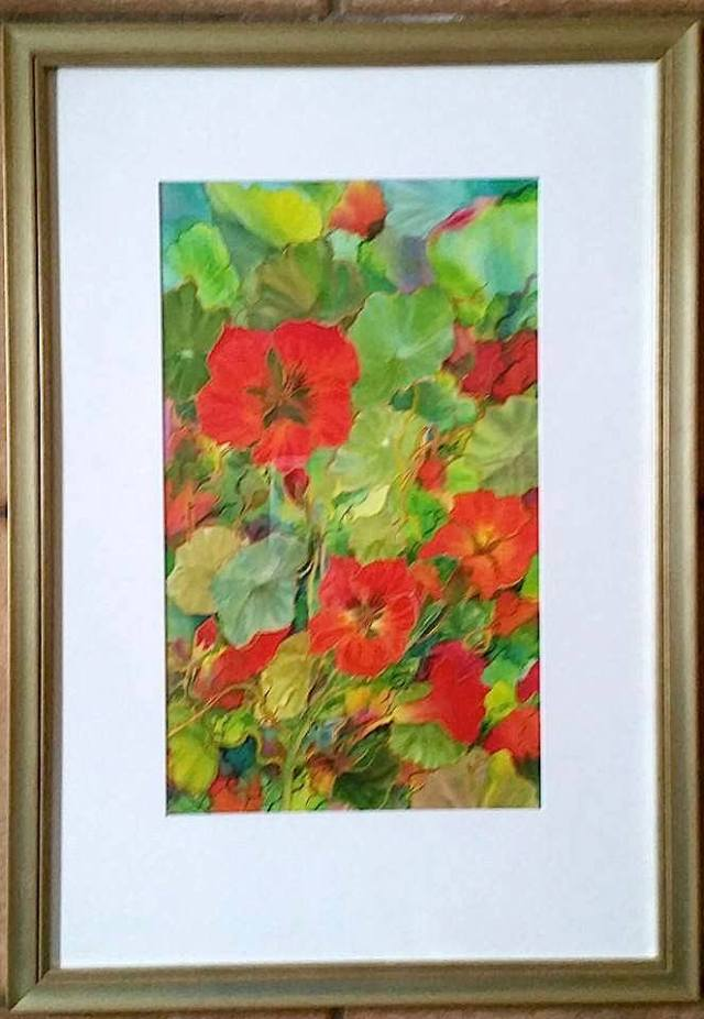 Nasturtiums on silk... Tenacity