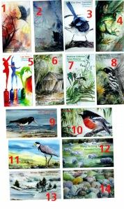 fridge magnets mainly birds copy