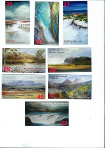 9cm x 5cm fridge magnets TASMANIAN ART