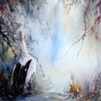 Exploring, watercolour