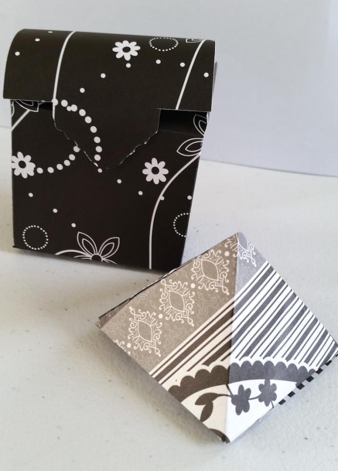 casket box with pyramidin b&w