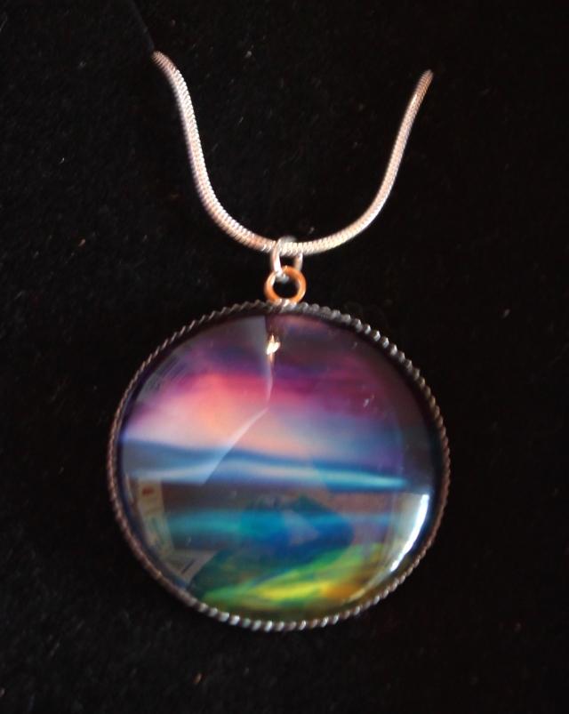 Aurora inspired pendant