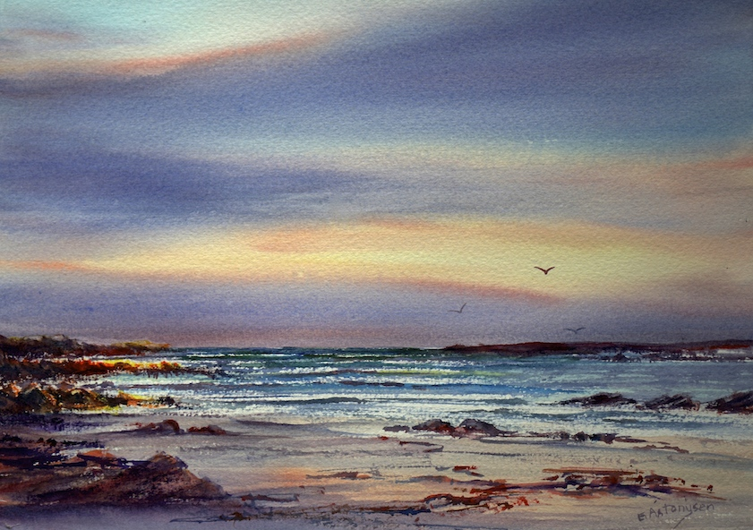 nelson-bay-evening-tarkinecoastwatercolour
