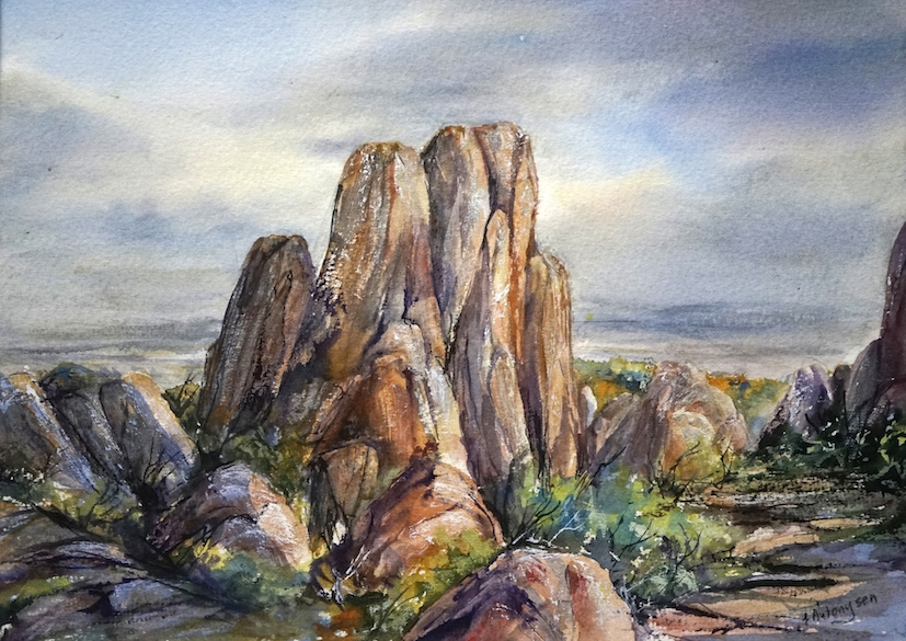 tors-mt-wellington-watercolour
