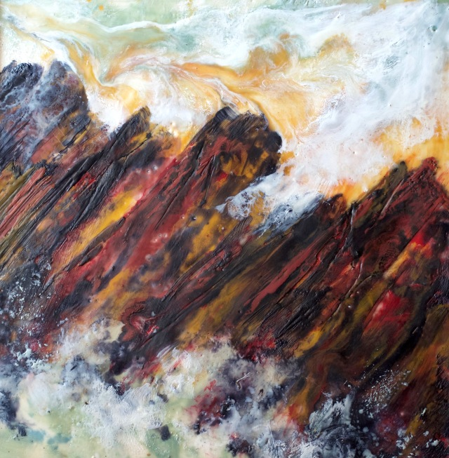 Turmoil,, encaustic, Tasmania's Tarkine wilderness